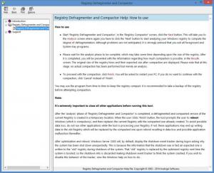 Enlarge Registry Compactor Screenshot