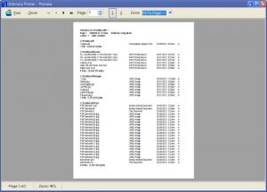 Enlarge Directory  Printer Screenshot