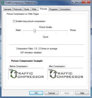 Enlarge TrafficCompressor Screenshot