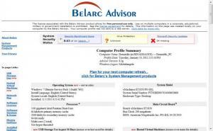 Enlarge Belarc  Advisor Screenshot