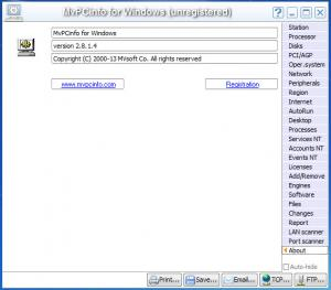 Enlarge MvPCinfo Screenshot