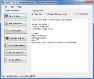 Enlarge EasyBCD Screenshot