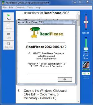 Enlarge ReadPlease Screenshot