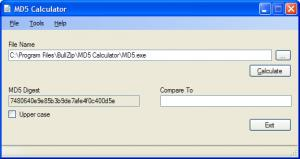 Enlarge MD5 Calculator Screenshot