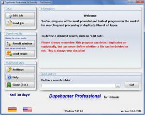 Enlarge Dupehunter  Professional Screenshot