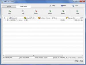 Enlarge Index Your  Files Screenshot
