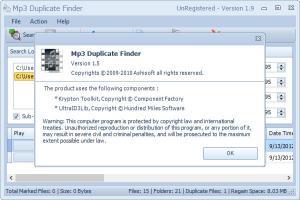 Enlarge Mp3 Duplicate  Finder Screenshot