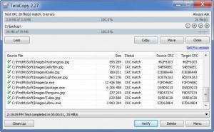 Enlarge TeraCopy Screenshot