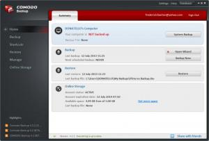 Enlarge Comodo  BackUp Screenshot
