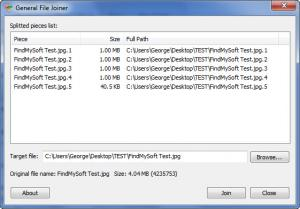 Enlarge General File  Splitter Screenshot
