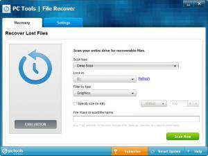 Enlarge PC Tools File Recover Screenshot