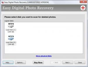 Enlarge Easy Digital Photo  Recovery Screenshot