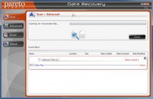 Enlarge ParetoLogic Data  Recovery Screenshot