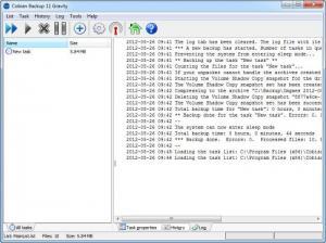 Enlarge Cobian  Backup Screenshot