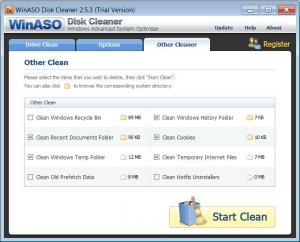 Enlarge WinASO Disk  Cleaner Screenshot