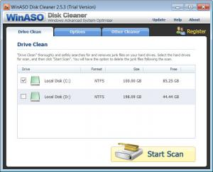 Enlarge WinASO Disk  Cleaner Screenshot