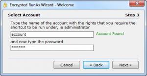 Enlarge Encrypted  RunAs Screenshot