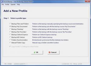 Enlarge Second  Backup Screenshot