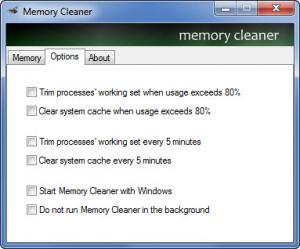 Enlarge Memory Cleaner Screenshot
