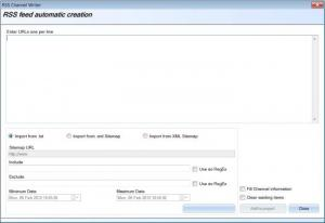 Enlarge RSS Channel Writer Screenshot