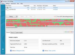 Enlarge Auslogics Disk  Defrag Screenshot