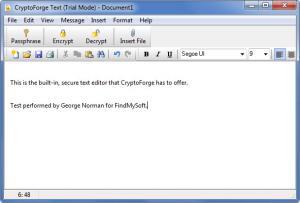 Enlarge CryptoForge Screenshot