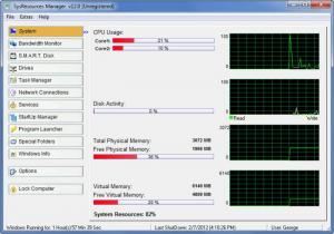 Enlarge SysResources Manager Screenshot