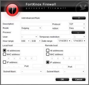 Enlarge FortKnox Personal  Firewall Screenshot