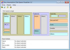 Enlarge Zero Assumption Disk Space  Visualizer Screenshot