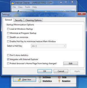 Enlarge Internet  Cleaner Screenshot