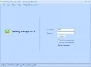 Enlarge Training Manager Enterprise Edition Screenshot