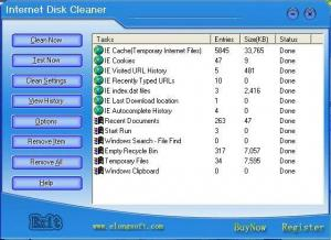 Enlarge Internet Disk Cleaner Screenshot