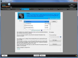 Enlarge Media Investigator Screenshot