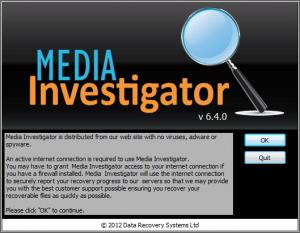 Enlarge Media Investigator Screenshot