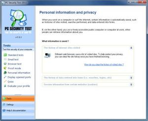 Enlarge PC Security Test Screenshot