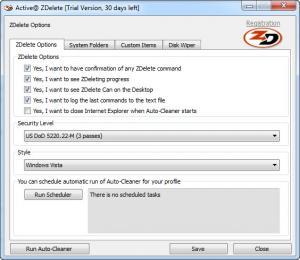 Enlarge Active@ ZDelete Screenshot