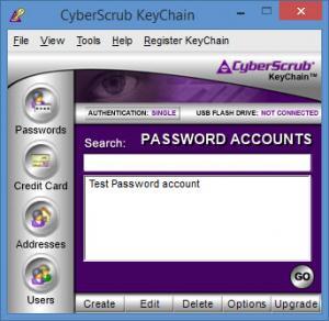 Enlarge CyberScrub  KeyChain Screenshot