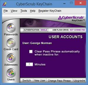Enlarge CyberScrub  KeyChain Screenshot