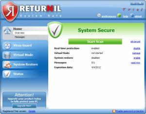 Enlarge Returnil System Safe Pro Screenshot