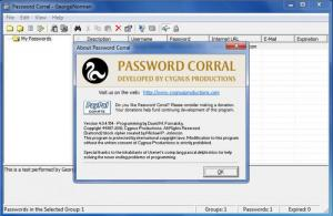 Enlarge Password  Corral Screenshot