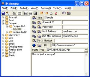 Enlarge ID  Manager Screenshot