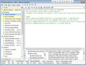 Enlarge Quick  Macros Screenshot