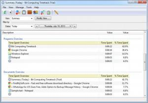 Enlarge Bit Computing TimeTrack Screenshot