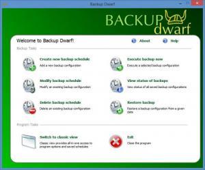 Enlarge Backup Dwarf Screenshot