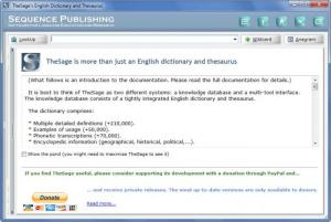 Enlarge TheSage English Dictionary and Thesaurus Screenshot