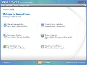 Enlarge Secure  Eraser Screenshot