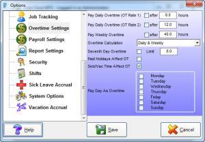 Enlarge Time Clock  MTS Screenshot