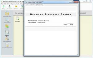 Enlarge Easy Time  Tracking Screenshot