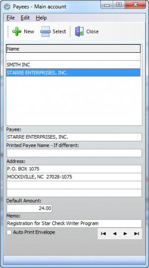 Enlarge Star Check  Writer Screenshot
