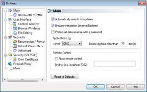 Enlarge BitKinex Screenshot